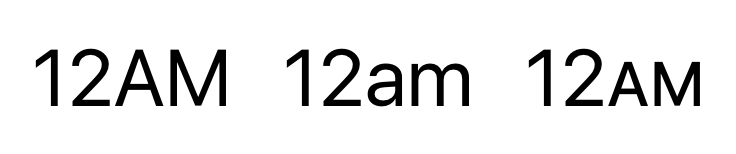 Example if a 12 hour clock